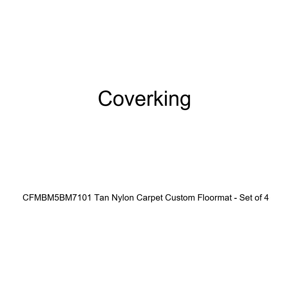 Coverking CFMBM5BM7101 Tan Nylon Carpet Custom Floormat - Set of 4