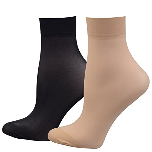Fitu Women's Sheer Nylon Ankle H...