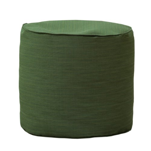 (Gold Medal Bean Bags Outdoor/Indoor Sunbrella Weather Resistant Ottoman, Dupione Palm)