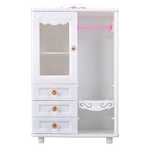 Los cajones plásticos blancos de los muebles del guardarropa de la sala de estar pueden ser abiertos Accesorios del juguete...