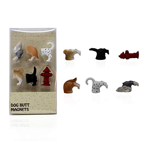 Cat Butt & Dog Butt Magnets for Refrigerator - 6 Pack for Cat & Dog Lover, Pet Enthusiasts and Office Decoration - Breed Variety Set (Dog Butt Magnets)