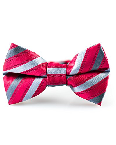 Hook Prince Suit (Littlest Prince Couture Charcoal and Crimson Stripe Youth/Adult Bow Tie 8 Years - Adult)