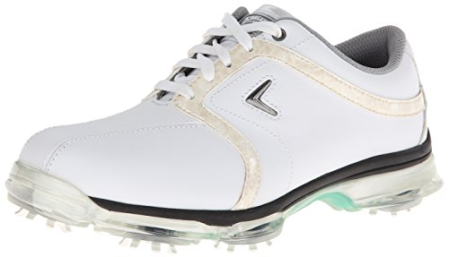 Callaway Footwear Women's XTT Tour Golf Shoe,White/Khaki,5 M US