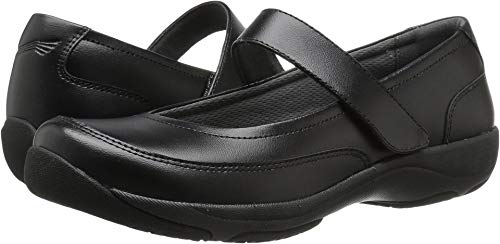 Dansko Women's Edith Mary Jane Flat, Black Leather, 38 EU/7.5-8 M US
