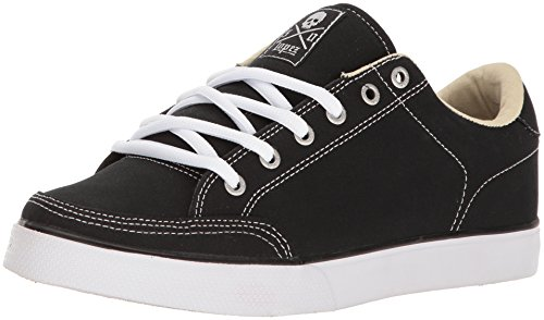 C1RCA Mens AL50 Adrian Lopez Lightweight Insole Skate Shoe Black Canvas/White