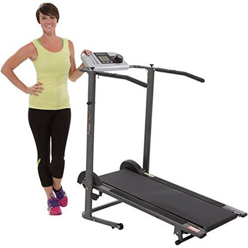 Fitness Reality TR3000 Maximum Weight Capacity Manual Treadmill with 'Pacer Control' and Heart Rate System by Fitness Reality