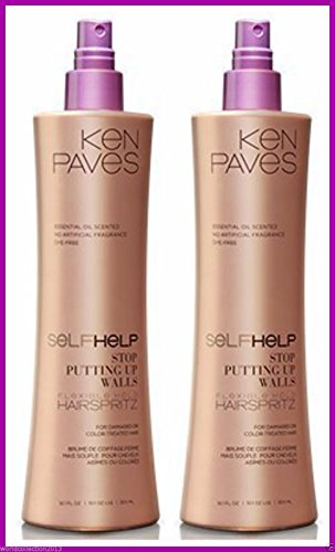 Lot of 2 Ken Paves Self Help Hair Spray FLEXIBLE HOLD HAI...