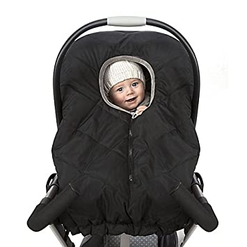51d5e4ab318 Amazon.com   Universal Quilted Infant Carrier Weather Shield in Black   Baby