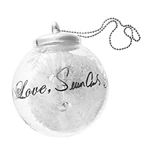 Sean John Special Edition Glass Glitter & Music Note Christmas Ornament for Macy's