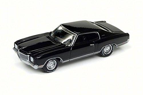 Round 2 1971 Chevy Monte Carlo SS, Gloss Black JLMC009/24A - 1/64 Scale Diecast Model Toy Car