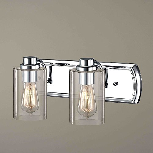 Industrial 2-Light Vanity Light in Chrome ()