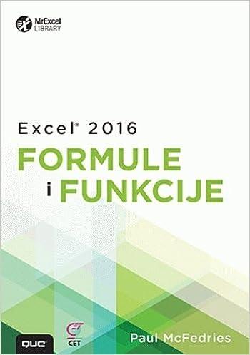 Excel 2016 formule i funkcije