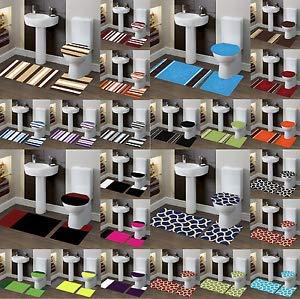 Florance Jones Mix Match Colors Bathroom Set Bath Rug Contour MAT Toilet LID Cover #7   Style Mat-RG145302229