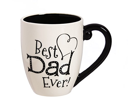 Cypress Home Best Dad Ever Ceramic Coffee Mug, 18 ounces (Best Dad Coffee Cup compare prices)