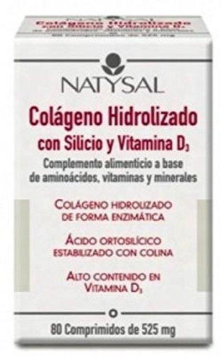 Colágeno con Silicio y Vitamina D3 80 comprimidos de Natysal: Amazon.es: Salud y cuidado personal