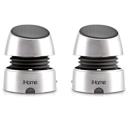 iHome iHM76 Rechargeable Mini Speakers (Silver)
