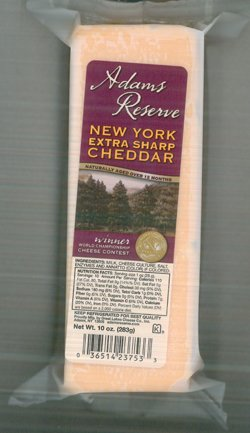 Adam's Reserve NY Extra Sharp Colored Cheddar Cheese (10 Ounces) (New York Extra Sharp White Cheddar Cheese)
