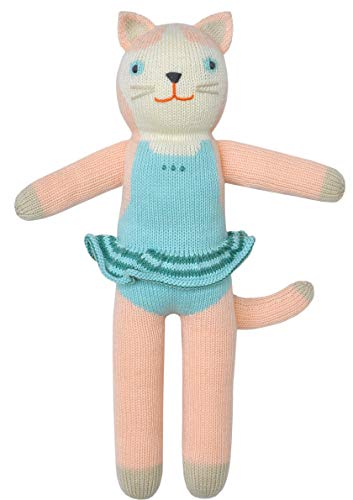 Blabla Splash The Cat Plush Doll - Knit Stuffed Animal for Kids. Cute, Cuddly & Soft Cotton Toy. Perfect, Forever Cherished. Eco-Friendly. Certified Safe & ()