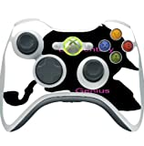 Silhouette Elementary Pipe Smoking Genius Printed Design Xbox 360 Wireless Controller Vinyl Decal Sticker Skin by Smarter Designs