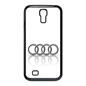 Audi logo_001 TPU Case Cover for samsung s4 9500 Cell Phone Case Black