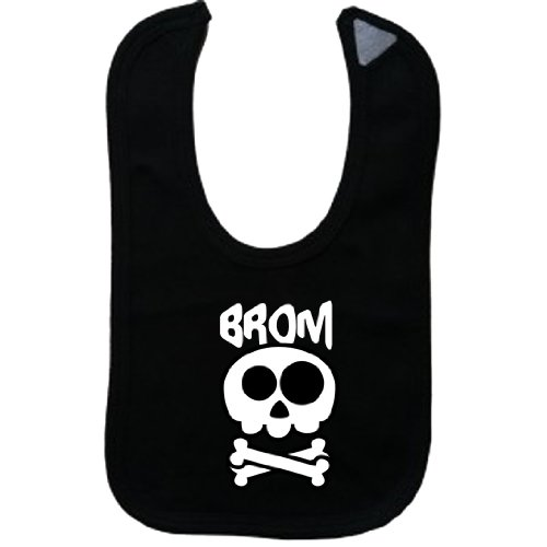 (BROM - Vintage Skull And Bones - Name-Series - Black Bib)