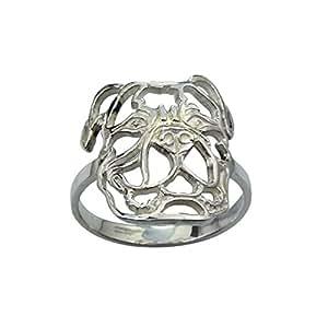 Desconocido B&B Damen-anillo Bulldog americano anillo Patas de plata 925 plata rhodiniert Gr, 51 (16.2-7000659