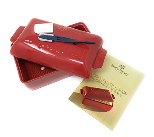2-Piece Set: Emile Henry Covered Bread Loaf Baker, 9.4 x 5-Inch, Burgundy, Mure and Peyrot Bread Scoring Lame - Bundle by Mixed (Image #5)