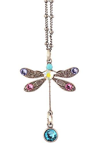 Anne Koplik Dragonfly Pendant Necklace, Silver Plateds, 18