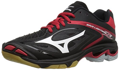Mizuno Women's Wave Lighting Z3 Volleyball Shoe,Black/Red,10 B US (Junior Shoes Volleyball)