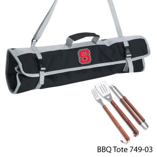 (NCAA North Carolina State Wolfpack 3-Piece BBQ Tool Set With Tote)