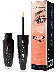 EssyNaturals Eyelash and Brow Growth Serum Irritation Free Formula, 3 Months Supply (3ml)