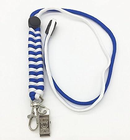 Llavero Paracord cable de emergencia camping al aire libre incluyendo mosquetón práctica de los anillos de claves trenzados marca PRECORN ...