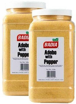 Badia Adobo with Pepper 8 lbs Pack of 2 by Badia
