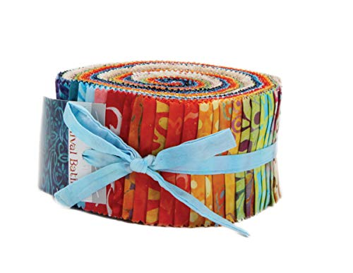 Carnival Batiks Jelly Roll 40 2.5-inch Strips Moda Fabrics ()