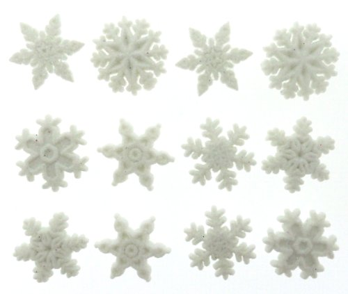 (Jesse James Dress It Up Holiday Collection Embellishments, Glitter Snowflakes )