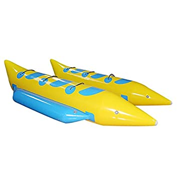 Amazon.com: JYNselling 6 personas inflable Banana Barco ...