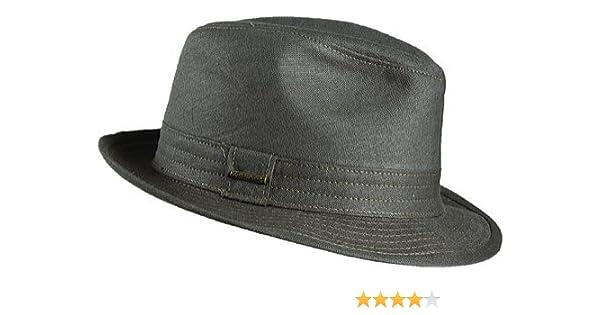 80675b95f2a8b Stetson Men s Havana Linen Fedora Hat at Amazon Men s Clothing store