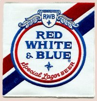 pabst-brewing-company-red-white-blue-special-lager-beer-3-1-2-x-3-1-2-set-of-twenty-embroidered-beer