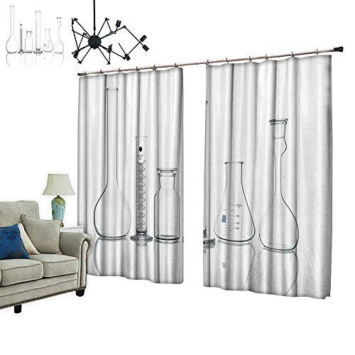 PRUNUS Colorful Waterproof Curtain with hookwhite Chest Drawers fille Decor in Bright Room Very Good Touch,W108 xL96.5
