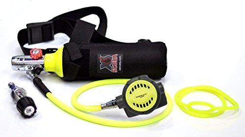 Diving Tank (DXDIVER Bailout Pony Bottle Diving Kit with Nylon Belt - Hose - 6 cf Tank - SPG Gauge - Regulator - Fill Adapter - Spare Secondary Air Scuba Dive Egressor)