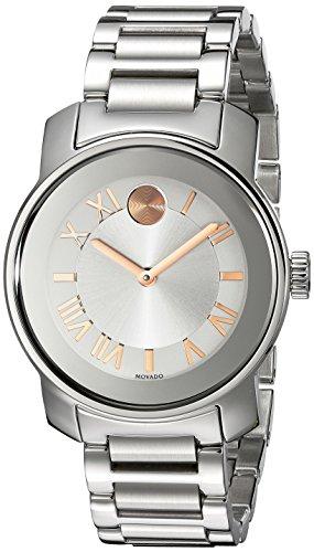 Movado Women s 3600244 Bold Analog Display Swiss Quartz Silver-Tone Watch
