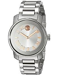 Movado Women's 3600244 BOLD Analog Display Swiss Quartz Silver Watch