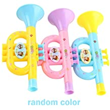Euone Toys Clearance , Colorful Baby Kids Horn Hooter Trumpet Instruments Music Toy Gifts
