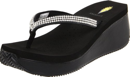 Thong Platform Shoes - Volatile Women's Corrine Thong Sandal,Black,9 B US