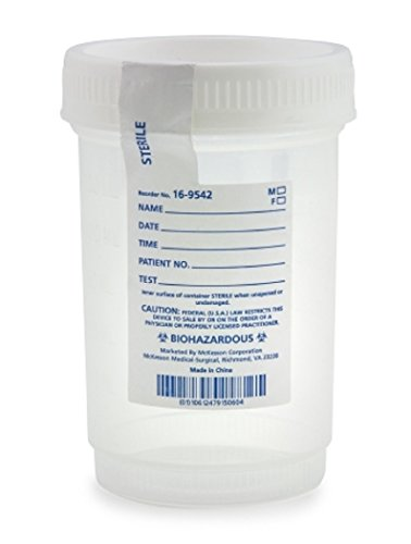 Specimen Container Medi-Pak Polypropylene / Polyethylene Screw Cap 120 mL (4 oz.) Sterile -75 Bag
