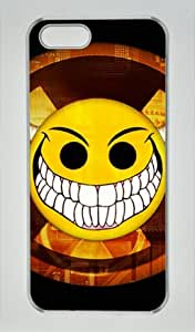 Smiley Face-6 Transparent Sides Hard Shell Case for Iphone5 and Iphone5S by Miracaly