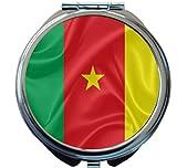 Rikki Knight Cameroon Flag Design Round Compact Mirror