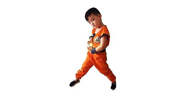 Amazon.com: tokyo-h Boys Doragon Ball Costume Tail Set son ...