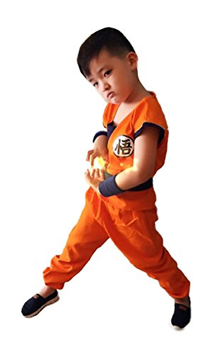 TOKYO-H Boys Doragon Ball Son Goku Cosplay Tail Set Costume Large