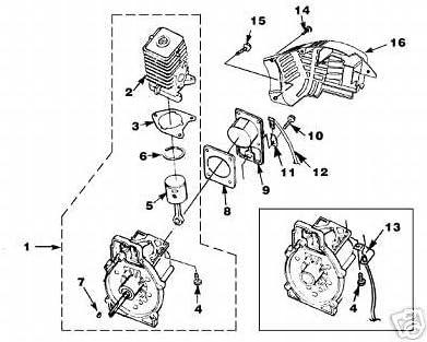 gasket cylinder UP03857 Homelite TRIMMER BLOWER part 04388b 985259001 900953001